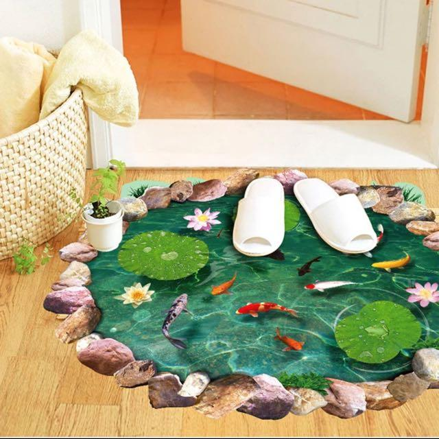 3d lenticular printing services 3d flooring for Decorative pond fish crossword